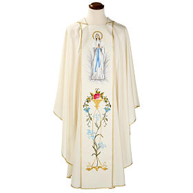 Casula mariana Madonna 100% lana dipinta a mano s1