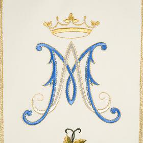 Casula mariana Madonna 100% lana dipinta a mano s4