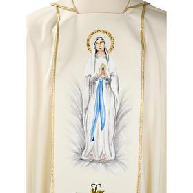 Casula mariana Madonna 100% lana dipinta a mano s7