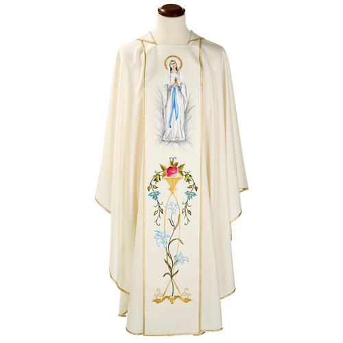 Casula mariana Madonna 100% lana dipinta a mano 1
