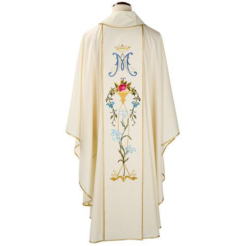 Casula mariana Madonna 100% lana dipinta a mano 2
