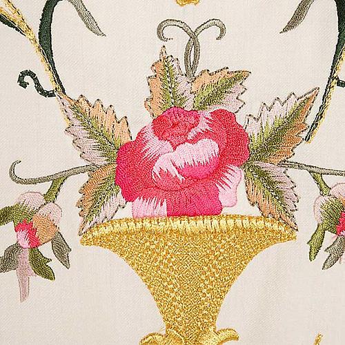Casula sacerdotale fiori decorazioni 100% lana 8