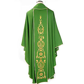 Chasuble in wool with gold flowers and ears of wheat s2