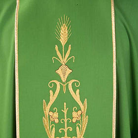 Chasuble in wool with gold flowers and ears of wheat s3