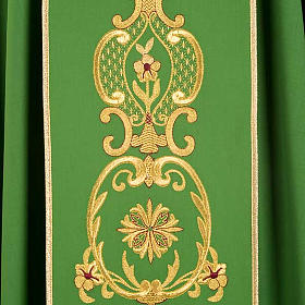 Chasuble in wool with gold flowers and ears of wheat s5