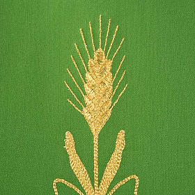 Chasuble in wool with gold flowers and ears of wheat s6