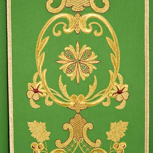 Chasuble in wool with gold flowers and ears of wheat 7