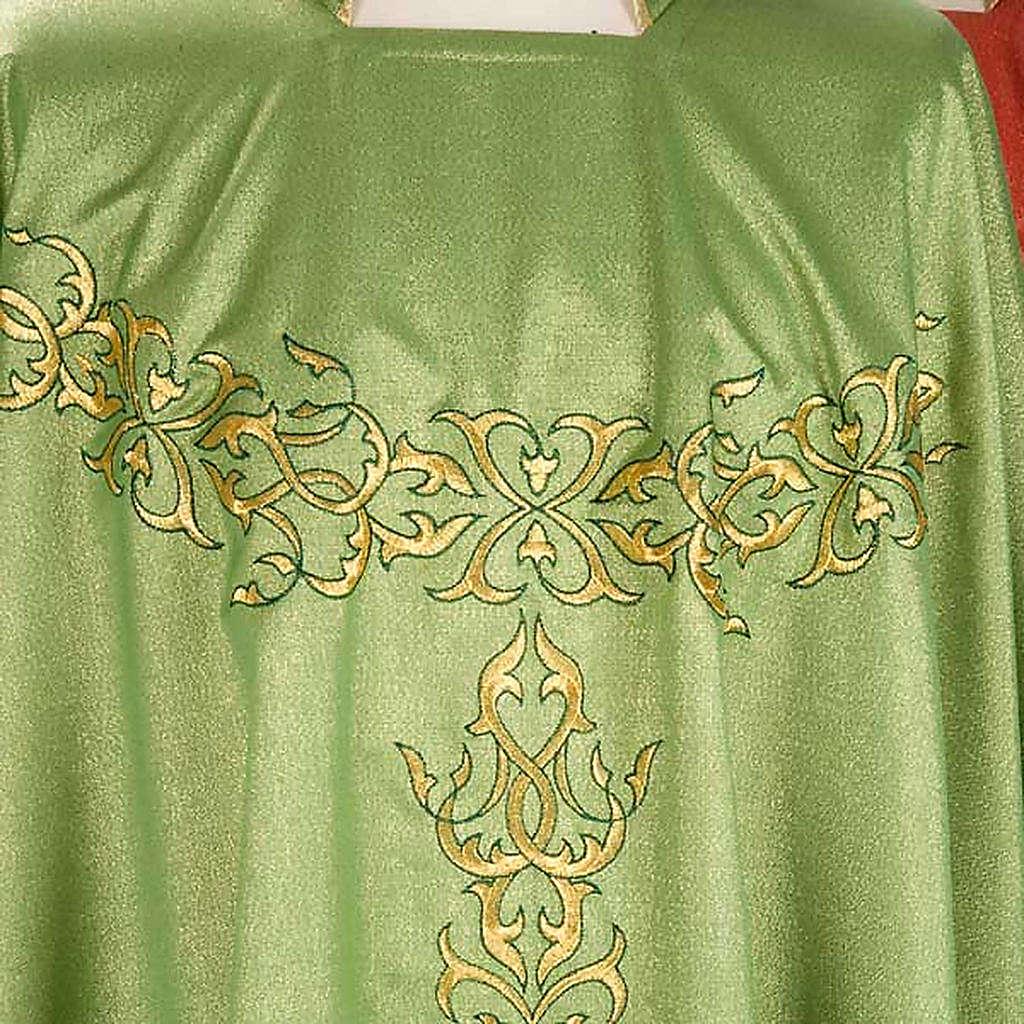 Casulla sacerdotal lúrex decoraciones 4