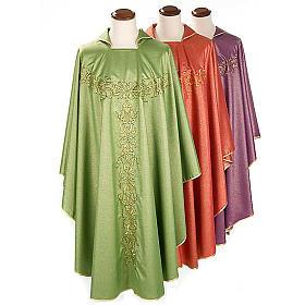Casulla sacerdotal lúrex decoraciones s1