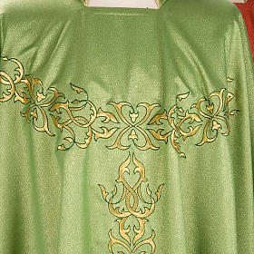 Liturgical Chasuble in lurex with stylized gold motifs s3