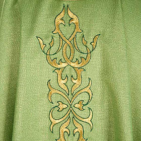 Liturgical Chasuble in lurex with stylized gold motifs s4
