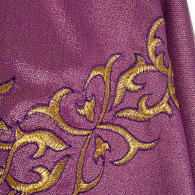 Liturgical Chasuble in lurex with stylized gold motifs s6