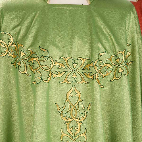 Liturgical Chasuble in lurex with stylized gold motifs 3