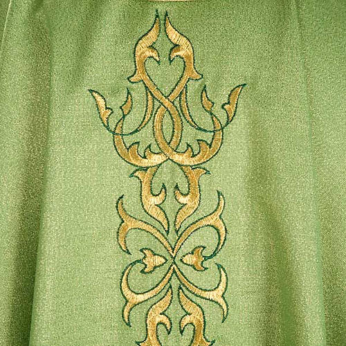 Liturgical Chasuble in lurex with stylized gold motifs 4