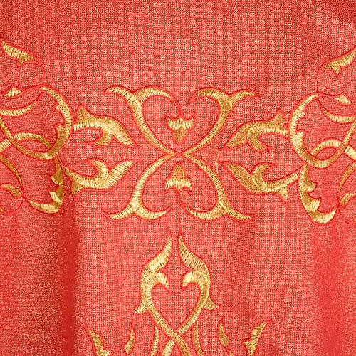 Liturgical Chasuble in lurex with stylized gold motifs 5