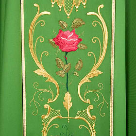 Liturgical Chasuble with floral and gold motifs s4