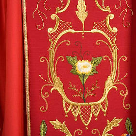 Liturgical Chasuble with floral and gold motifs s6