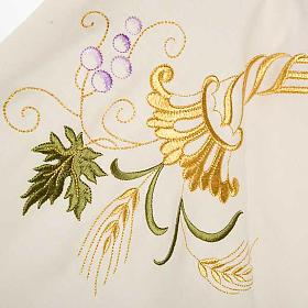Casula sacerdotale IHS decori dorati pura lana s4
