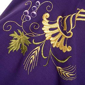 Casula sacerdotale IHS decori dorati pura lana s8