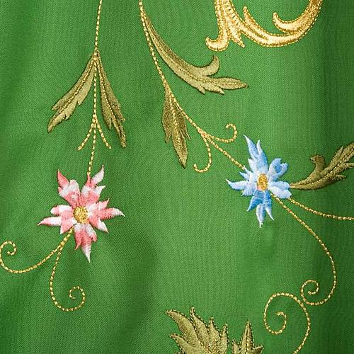 Casula sacerdotale IHS decori dorati pura lana 6