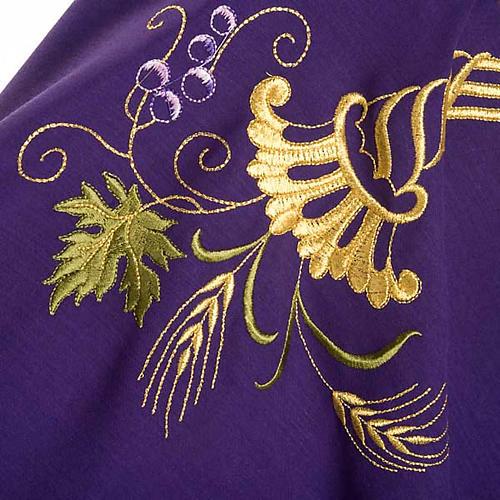 Casula sacerdotale IHS decori dorati pura lana 8