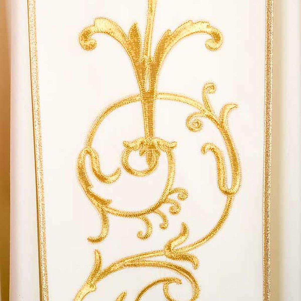 Casula sacerdotale lana pura spighe oro 4