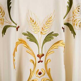 Casula sacerdotale spighe uva foglie pura lana s3