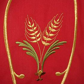 Casula sacerdotale spighe uva foglie pura lana s6