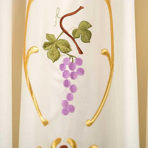 Liturgical Chasuble with gold ears of wheat, grapes and leaves 4