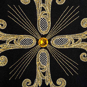 Liturgical vestment, black with gold crosses s4