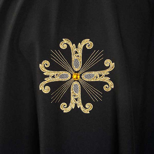 Liturgical vestment, black with gold crosses 3