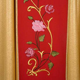 Casula sacerdotale oro stolone rosso IHS rose s4