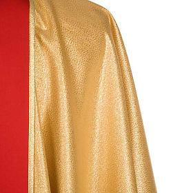 Casula sacerdotale oro stolone rosso IHS rose s6