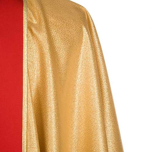 Casula sacerdotale oro stolone rosso IHS rose 6