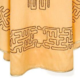 Chasuble dorée shantung croix stylisée s5