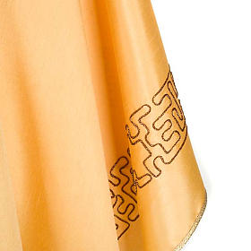 Casula shantung dorata croce stilizzata s4