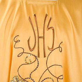 Chasuble dorée shantung IHS raisins épis s3