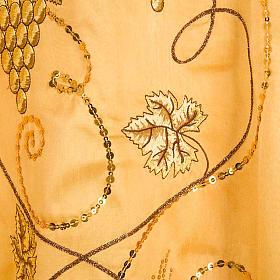 Chasuble dorée shantung IHS raisins épis s6