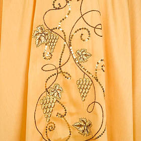 Chasuble with IHS symbol, grapes and ears of wheat - shantung s4