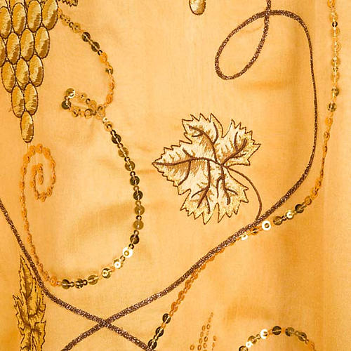 Chasuble with IHS symbol, grapes and ears of wheat - shantung 6
