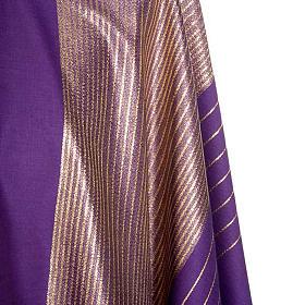 Chasuble liturgique bandes dorée laine s4