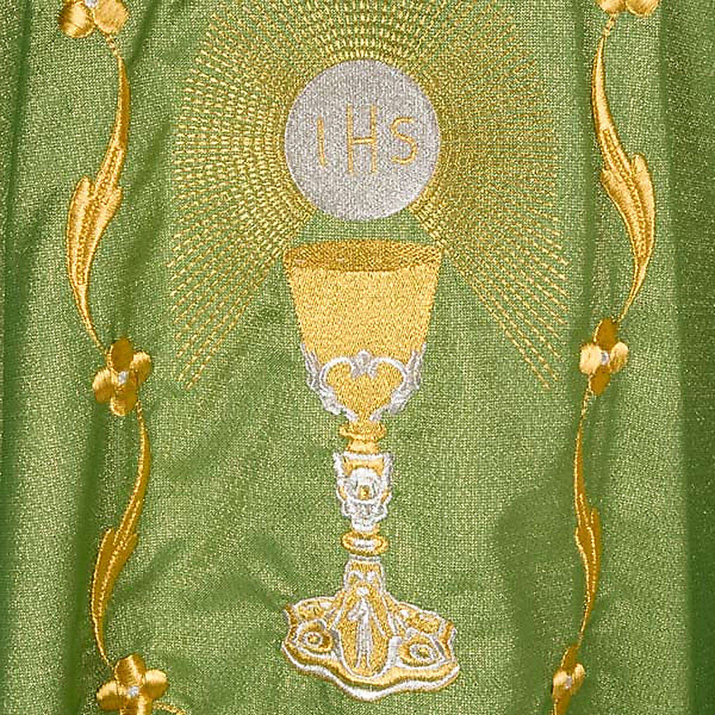 Chasuble with chalice and host, lurex 4