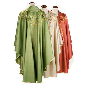 Chasuble with chalice and host, lurex s2