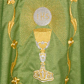 Chasuble with chalice and host, lurex s5