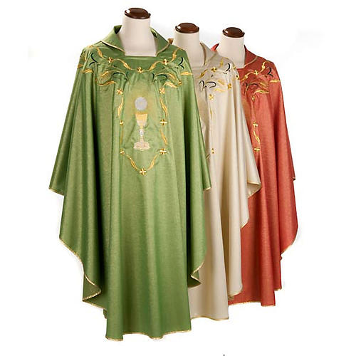 Chasuble with chalice and host, lurex 1