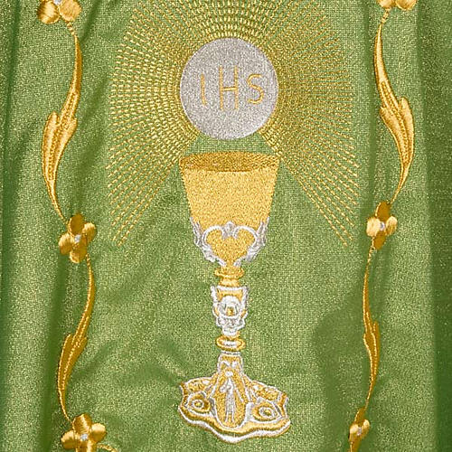 Chasuble with chalice and host, lurex 5