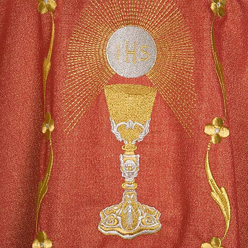Chasuble with chalice and host, lurex 8