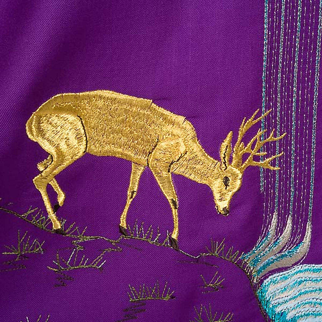Chasuble with deer, stoop, loaves and fish 4