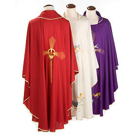 Chasuble with deer, stoop, loaves and fish s2