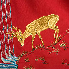 Chasuble with deer, stoop, loaves and fish s7